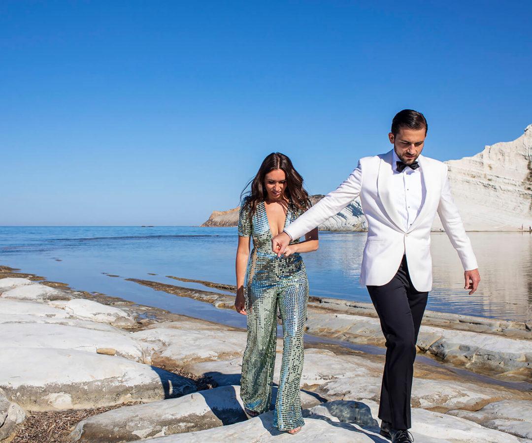 Scala dei Turchi Fotografo ad Agrigento per reportage di Matrimonio