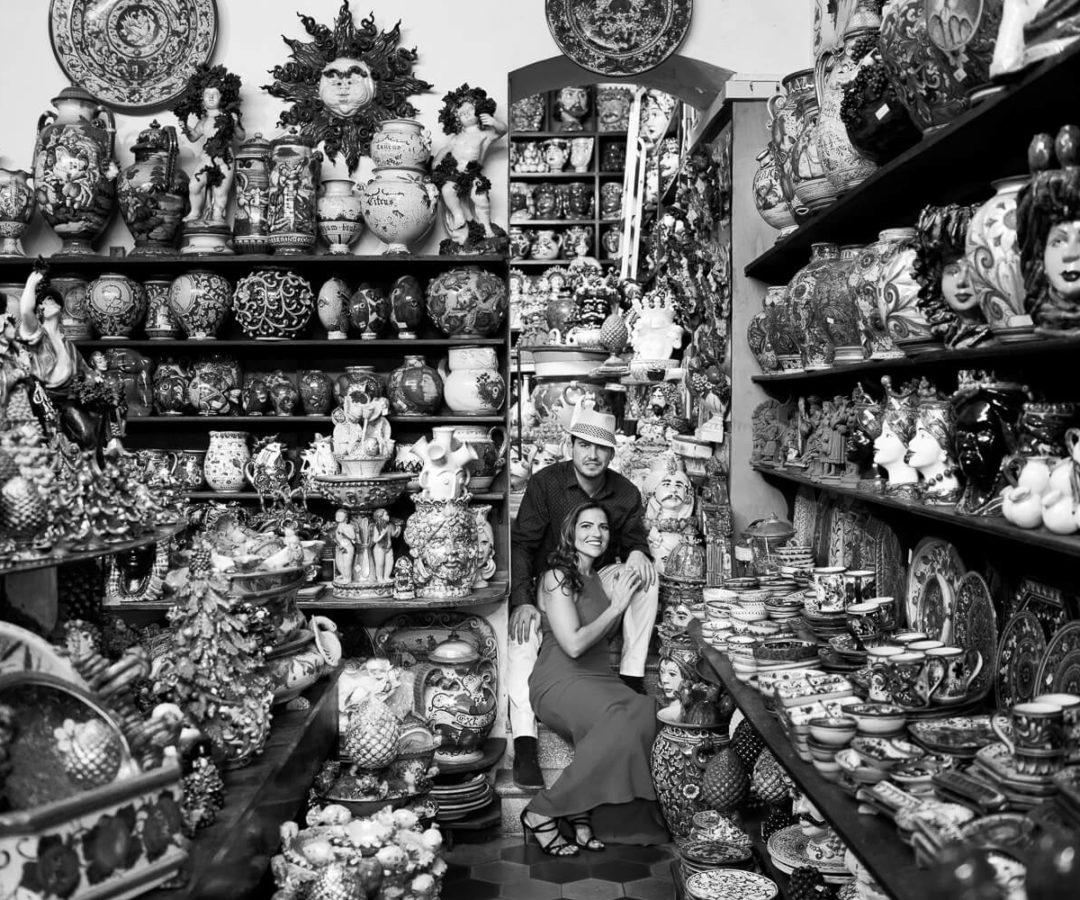 Fotografo a Taormina per servizio fotografico di fidanzamento e viaggio