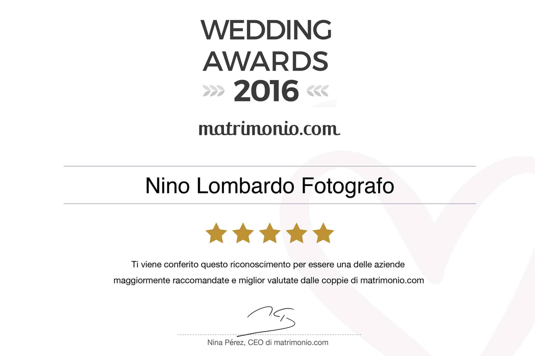 WEDDING AWARD