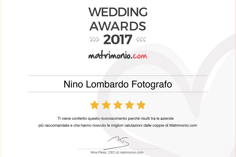 Premio Miglior Fotografo Matrimonio Trapani Palermo Agrigento Fotografo raccomandato sposi matrimonio.com