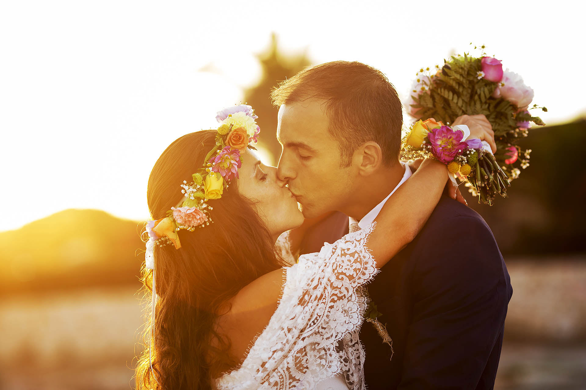 foto sposi al tramonto Siracusa Fotografia Nino Lombardo