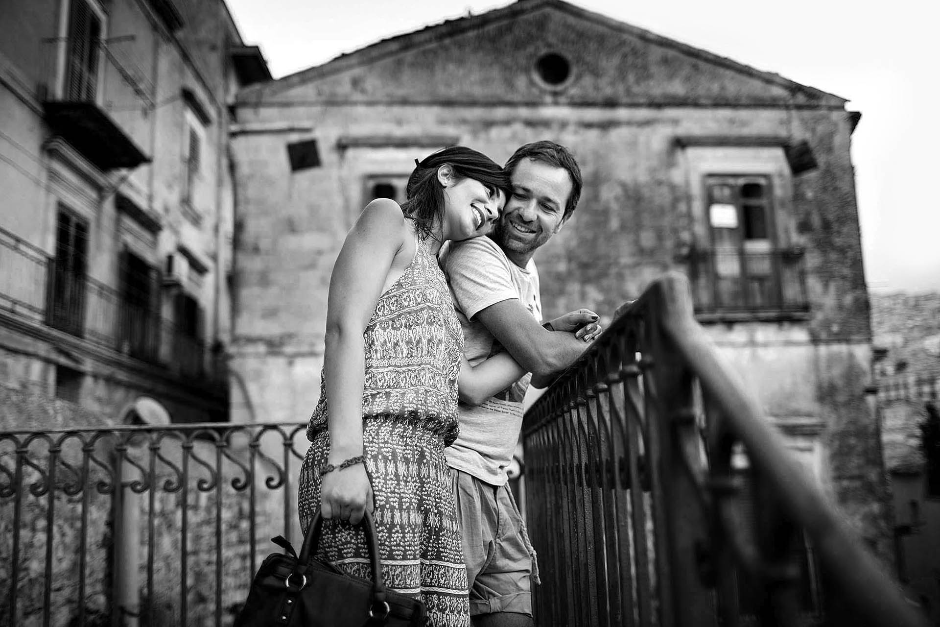 Engagement Photography Black and white Modica Ragusa