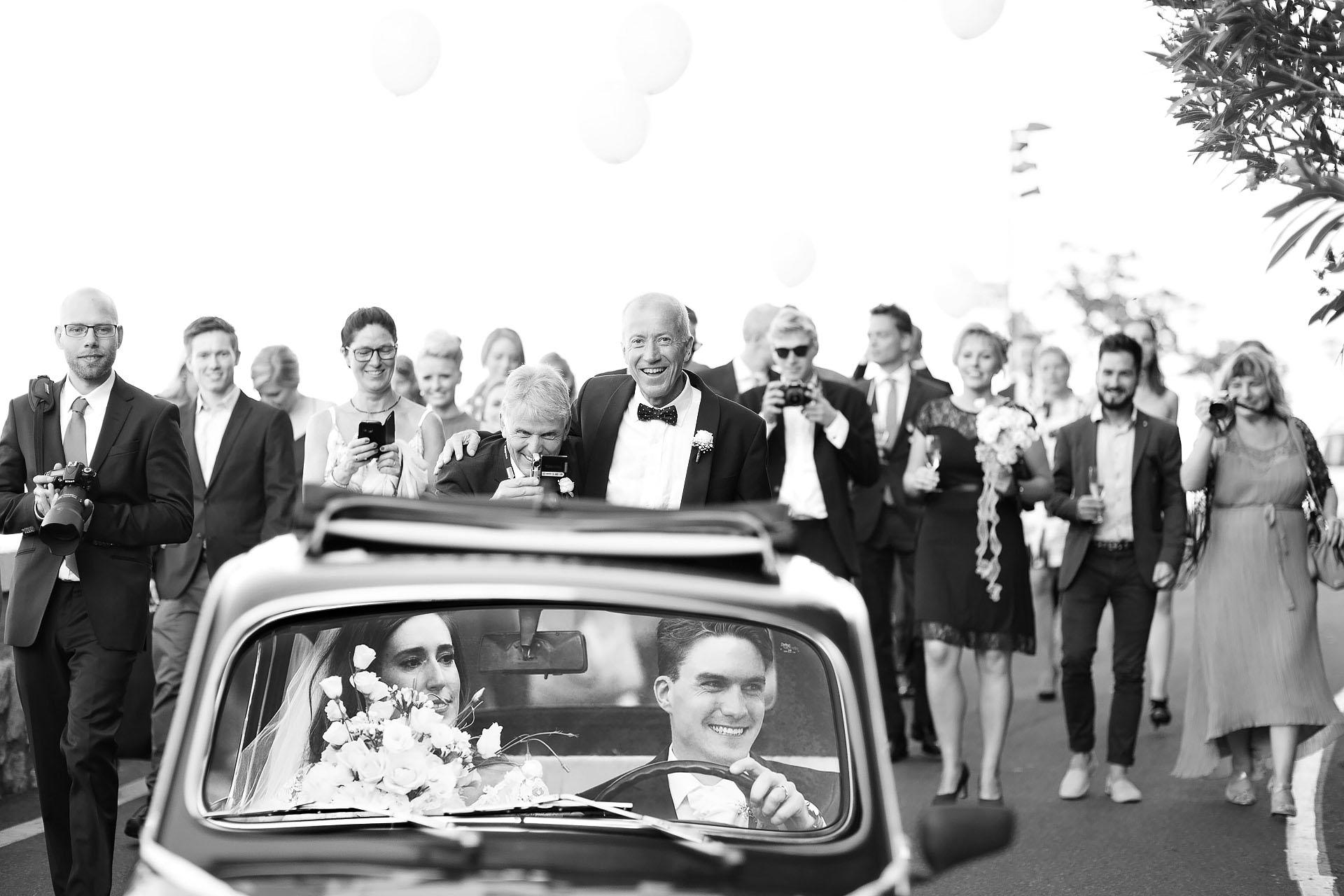 fotografia in bianco e nero Matrimonio Castelmola Taormina