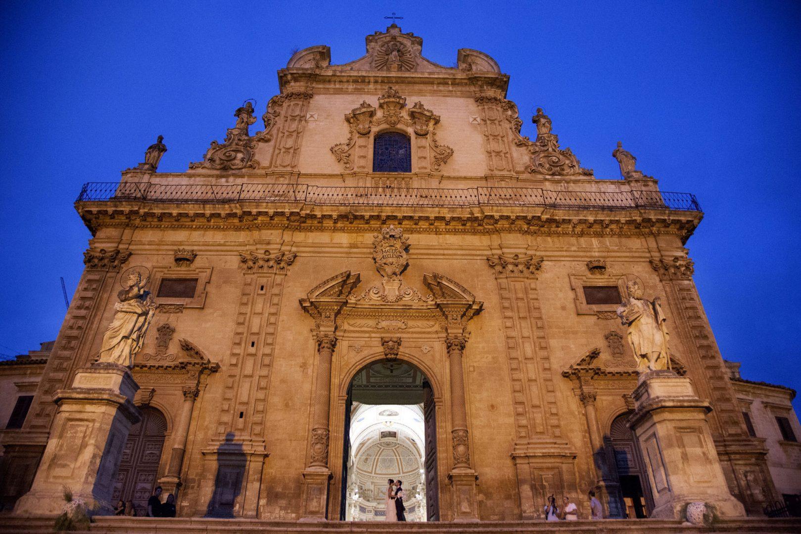 Fotografia Panoramica della Chiesa di Modica