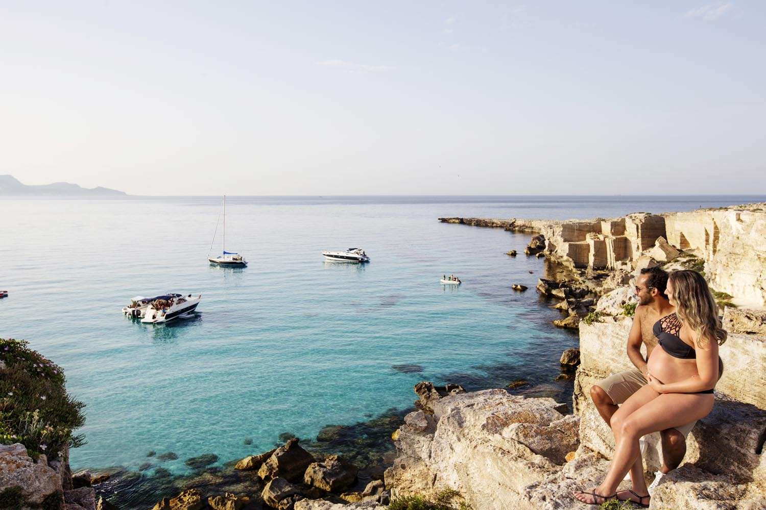Photographer in Favignana for shooting at the see