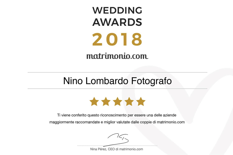 2018 Best Testimonials Wedding Award matrimonio.com Italy Photographer