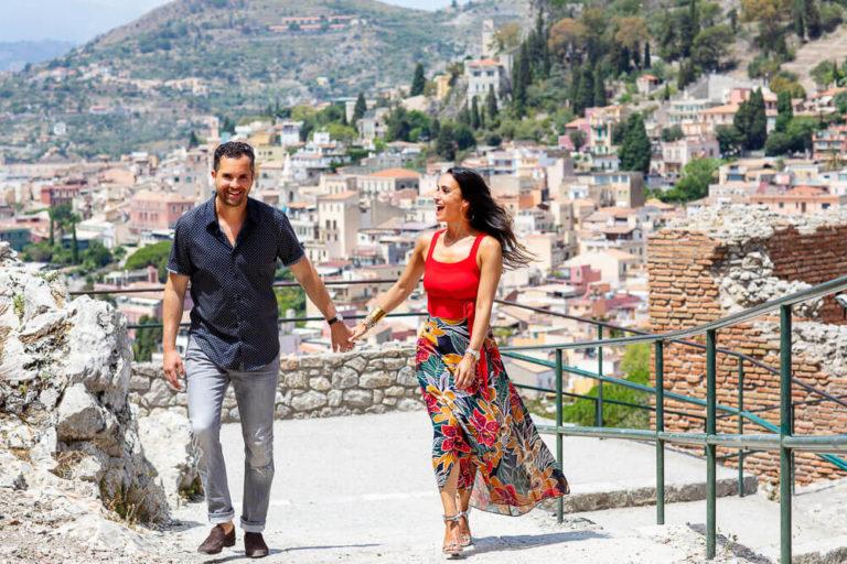 Taormina servizio fotografico di fidanzamento
