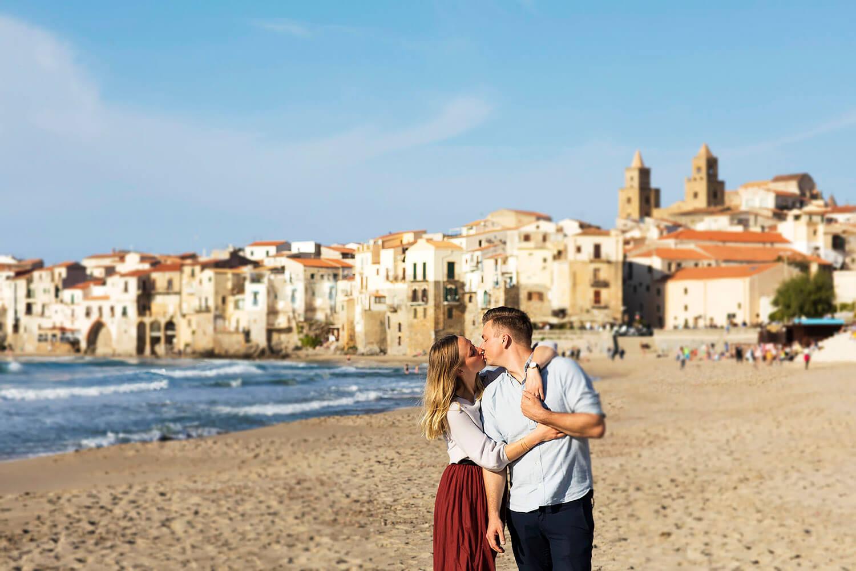 servizio fotografico di coppia a Cefalù per proposta di matrimonio