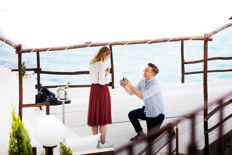 Proposta di matrimonio servizio fotografico di coppia