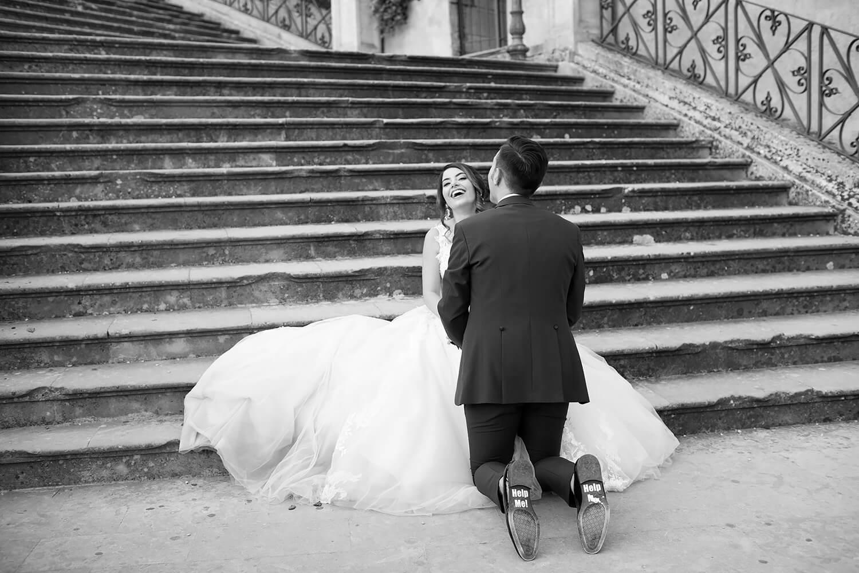 Foto matrimonio in Bianco e Nero naturali del fotografo a Ragusa