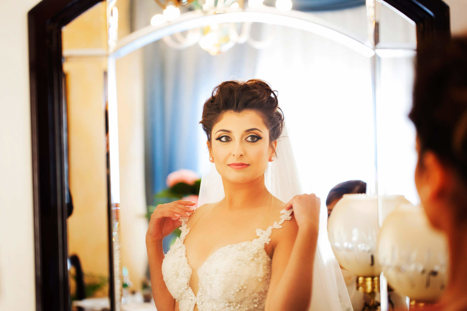 The bride ready at home in Siculiana, photos for weddings by Nino Lombardo