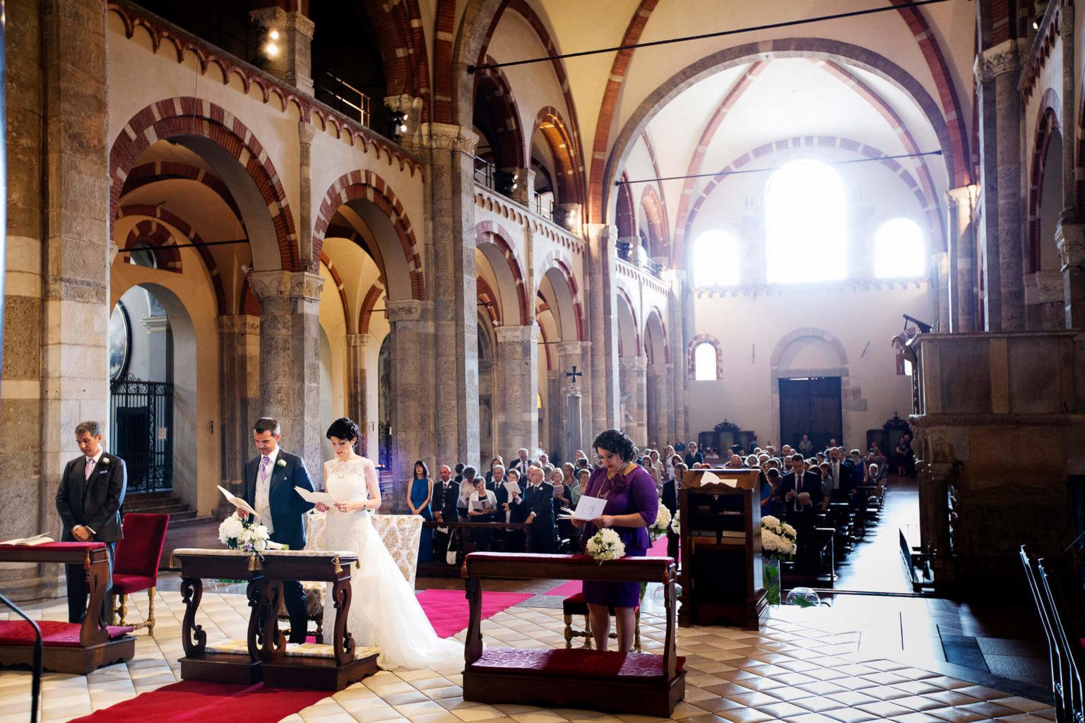 Bellissimo matrimonio alla Basilica di Sant'Ambrogio di Milano, foto matrimonio di Nino Lombardo