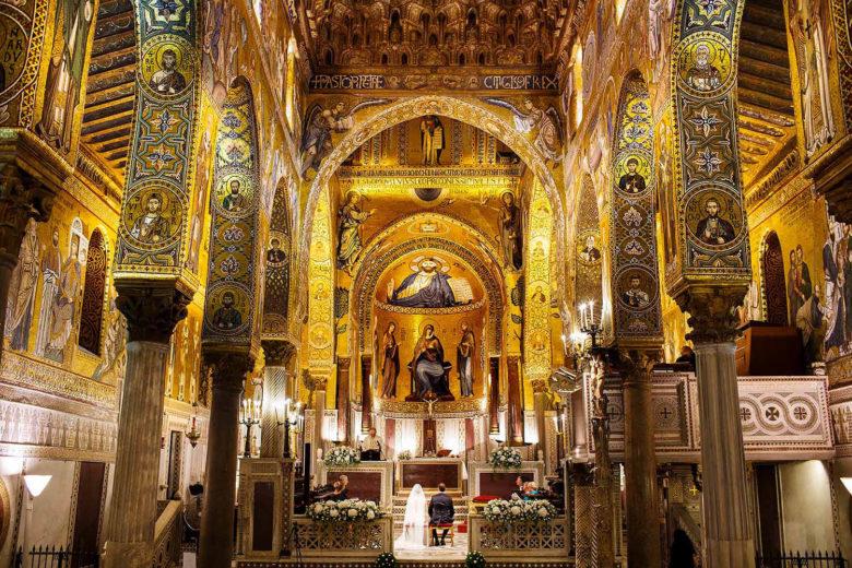 Storica Cappella Palatina a Palermo, foto per matrimonio di Nino Lombardo