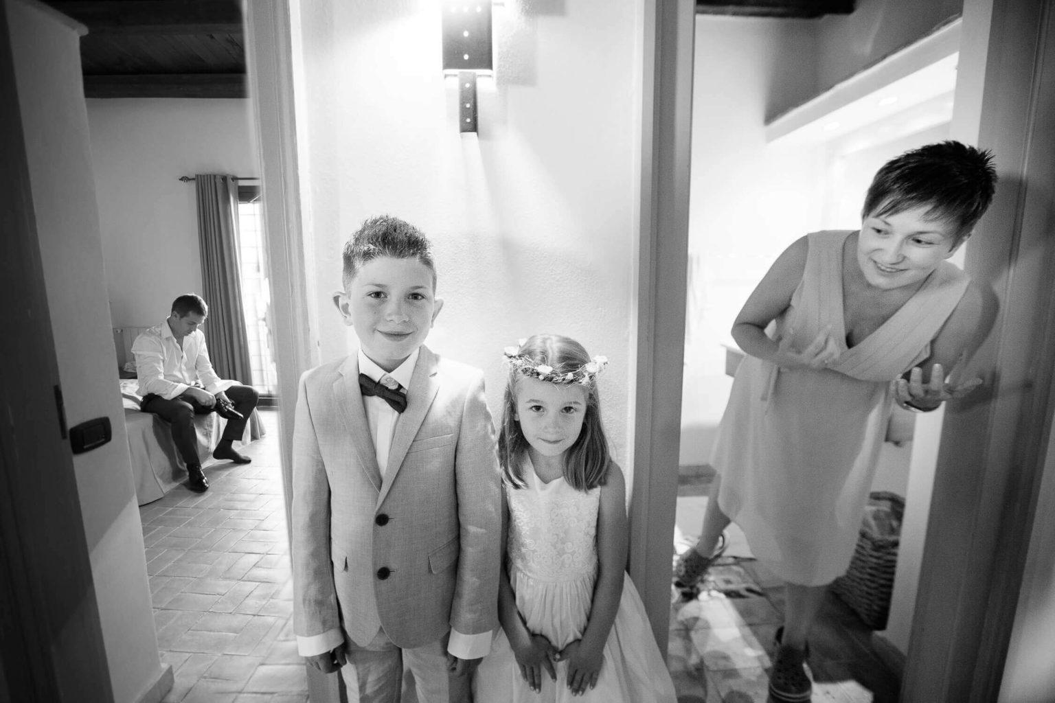 i figli degli sposi, foto per matrimonio di Nino Lombardo