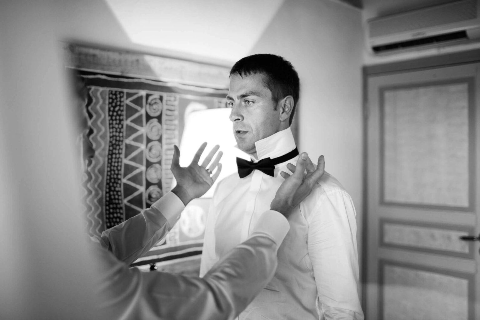 foto in bianco e nero dello sposo, foto per matrimonio di Nino Lombardo