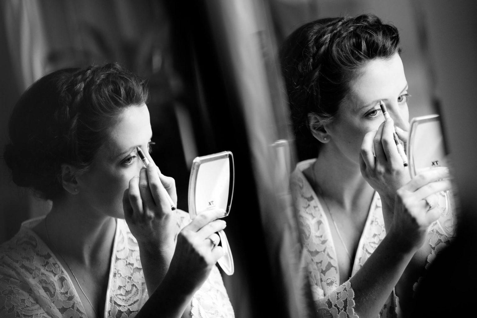 Trucco sposa bianco e nero, foto per matrimonio di Nino Lombardo