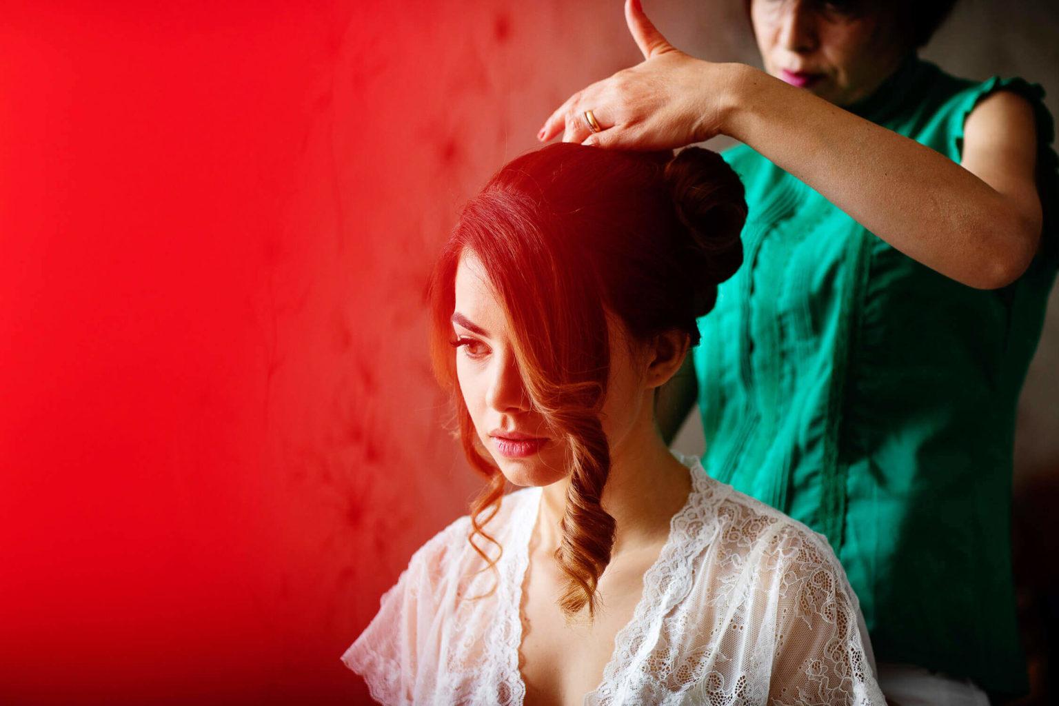 Acconciatura sposa, foto di Nino Lombardo