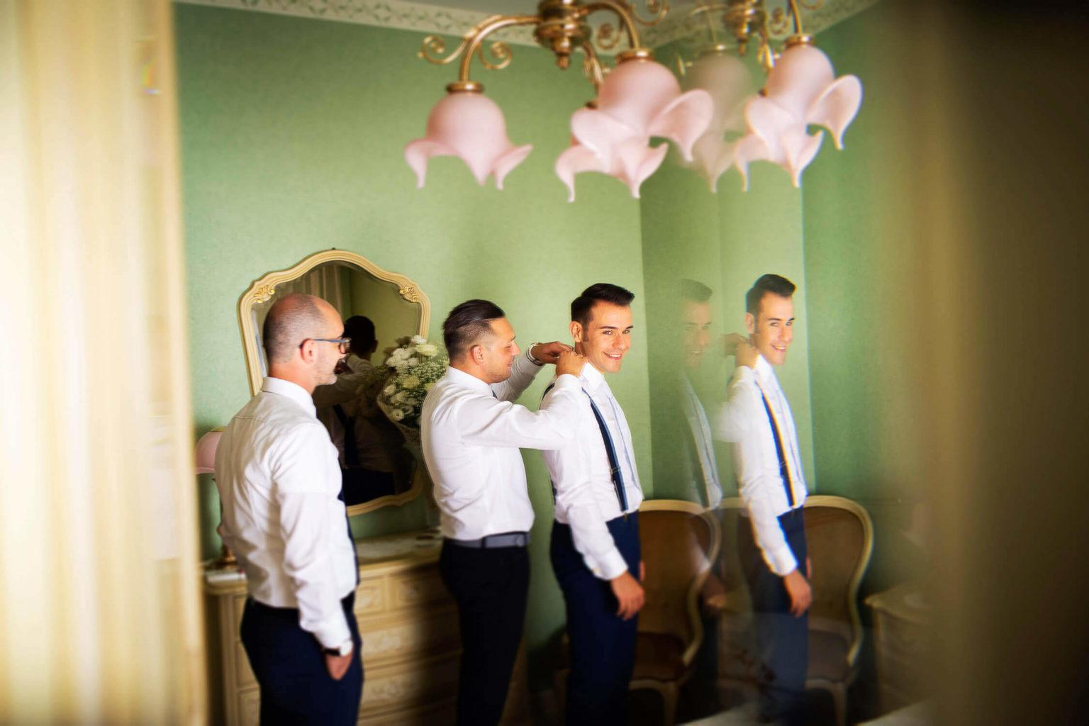 preparativi dello sposo, foto per matrimonio di Nino Lombardo