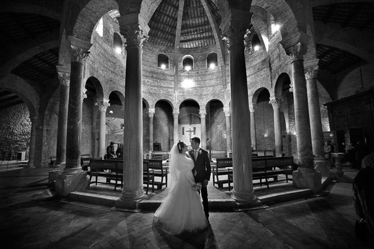 Wedding in Perugia, black and white photo