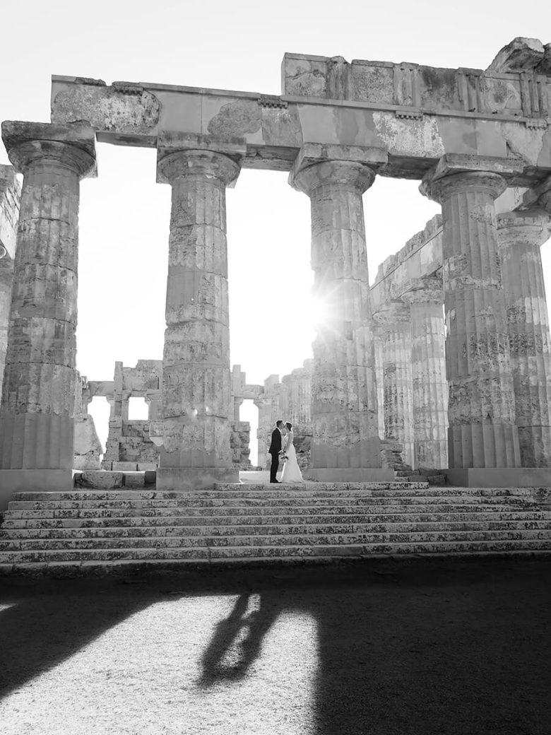 Selinunte Matrimonio con reportage in bianco e nero