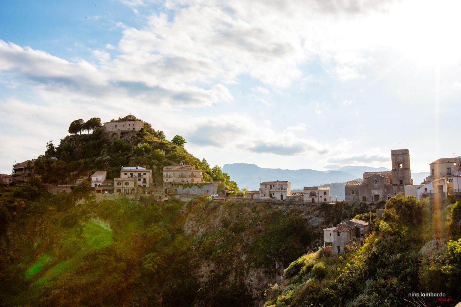Savoca, picture landscape Borgo San Rocco Messina