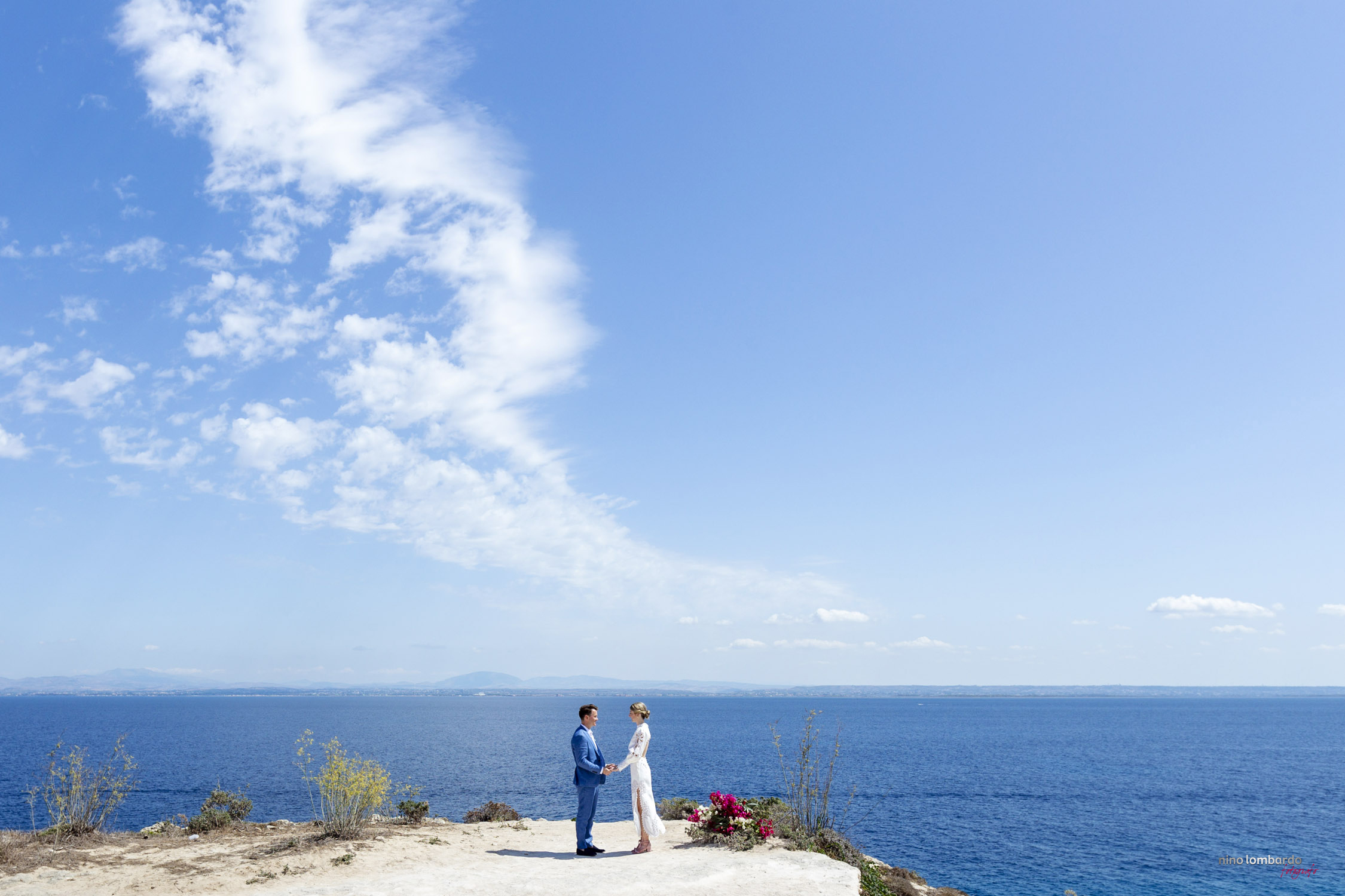 Egadi Islands Wedding Photographer, Favignana event on the sea in Sicily and published in ELLE Brides Italy