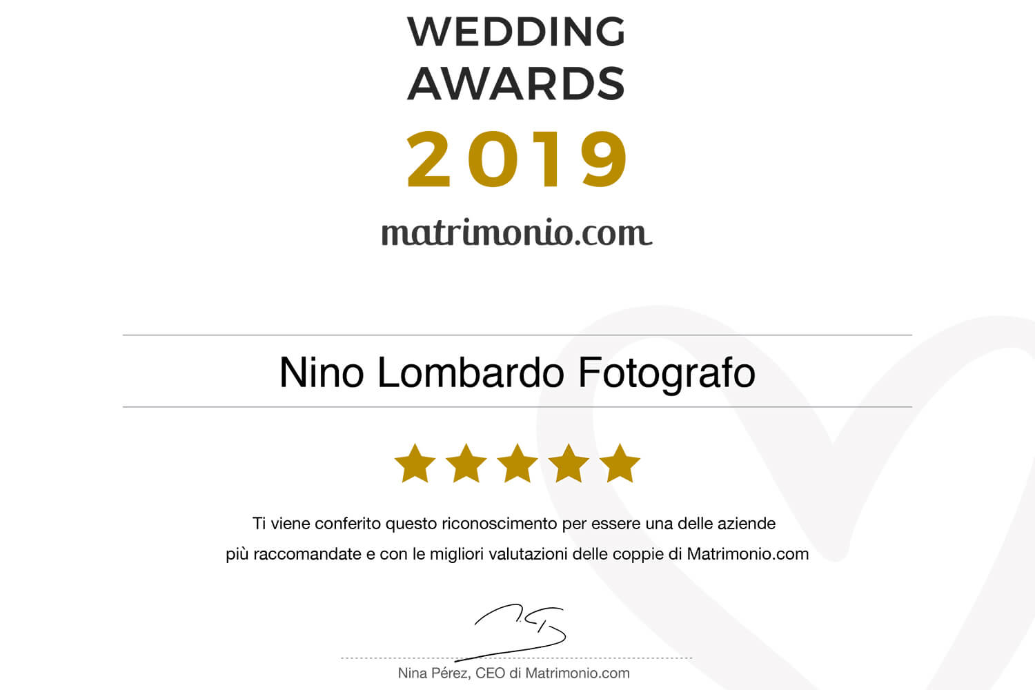 Best Reviews Award Recognition Photographer recommended newlyweds matrimonio.com