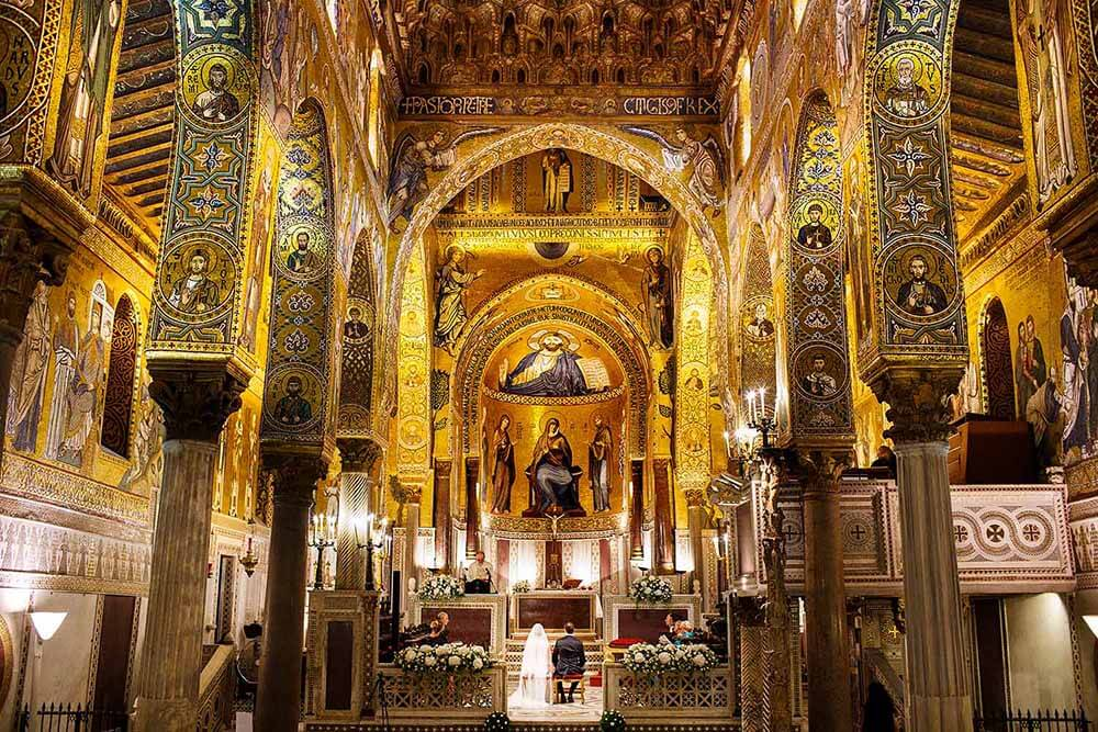Wedding at the Palatine Chapel in Palermo photographed by Nino Lombardo
