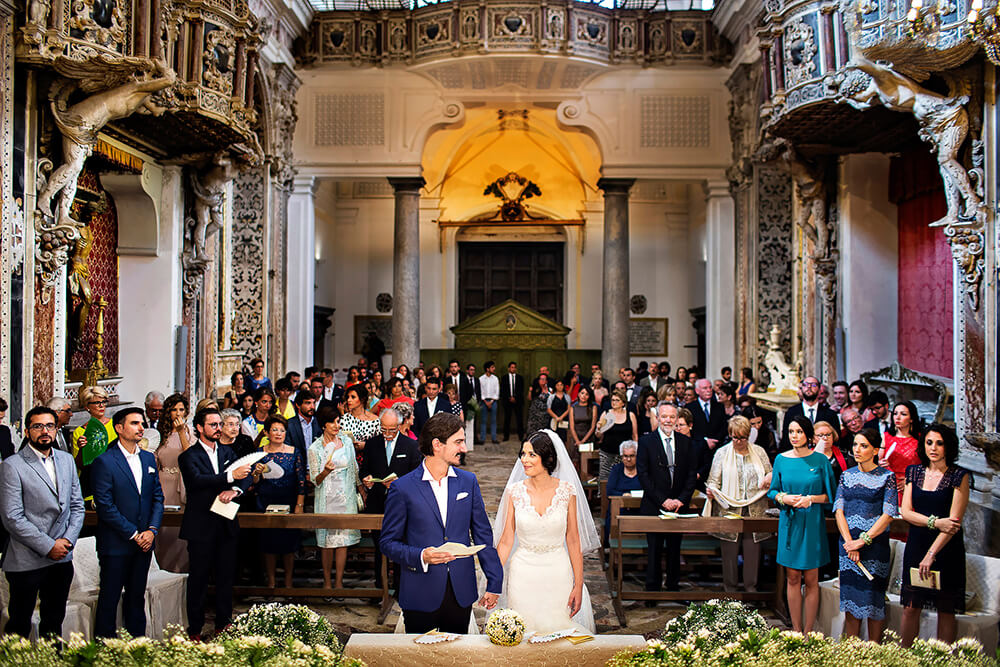 Wedding in Sicily photo at the Badia Nuova Church of Santa Maria del Soccorso in Trapani