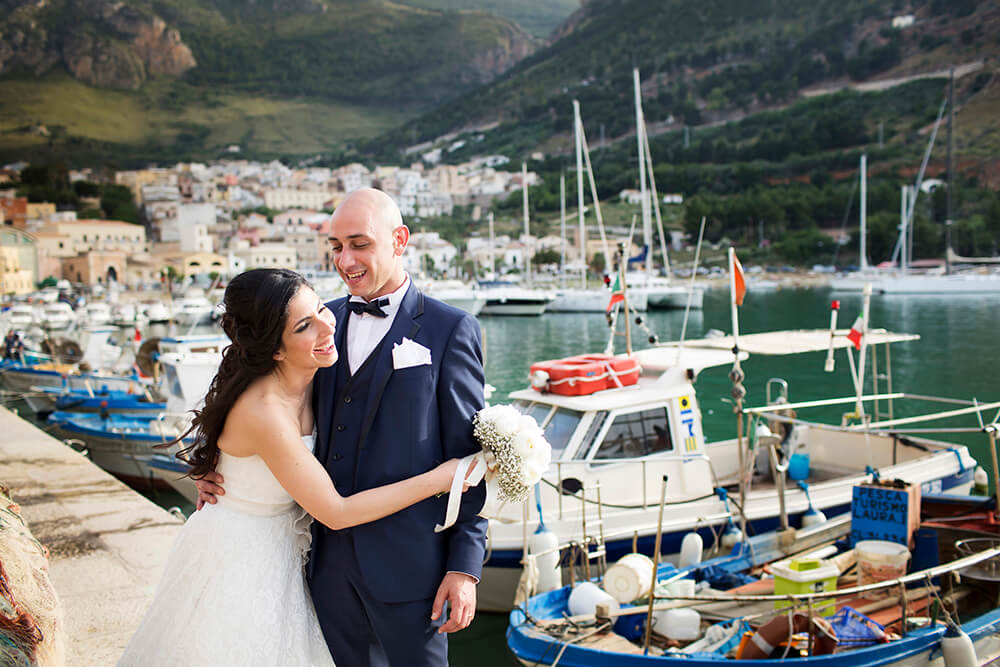 Wedding in Sicily photos in Marina of Castellammare del Golfo