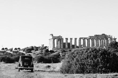 Valle dei Templi Agrigento, foto bianco e nero per matrimonio di Nino Lombardo