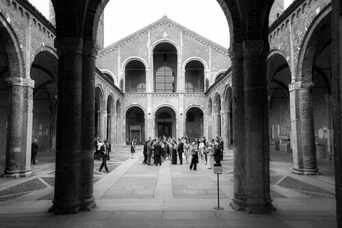 Fotografo matrimonio Milano Sant'Ambrogio